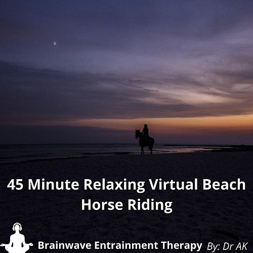 45 Minute Relaxing Virtual Beach Horse Riding With Brainwave Entrainment Tones by Drak
