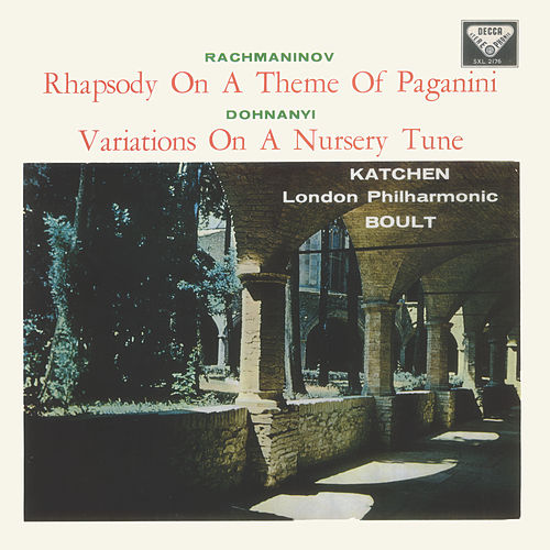Rachmaninov: Piano Concerto No. 2; Rhapsody on a Theme of Paganini / Dohnányi: Variations on a Nursery Song de Julius Katchen