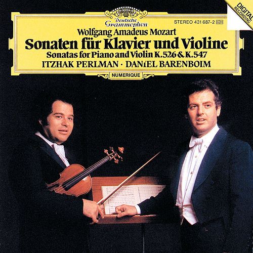 Mozart: Sonatas for Piano and Violin KV 526 & KV 547 by Itzhak Perlman