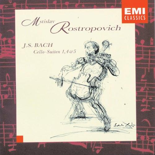 J.S. Bach: Cello Suites 1, 4 & 5 de Mstislav Rostropovich