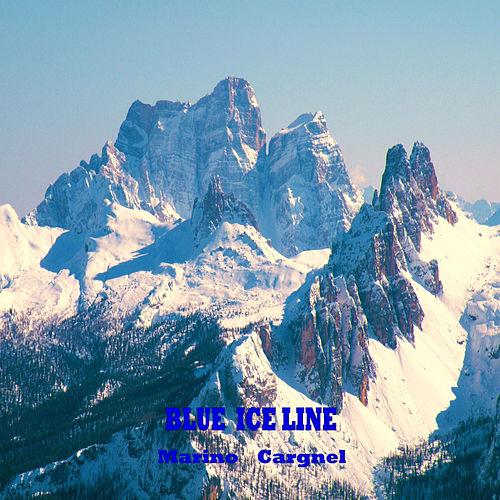 Blue Ice Line by Marino Cargnel