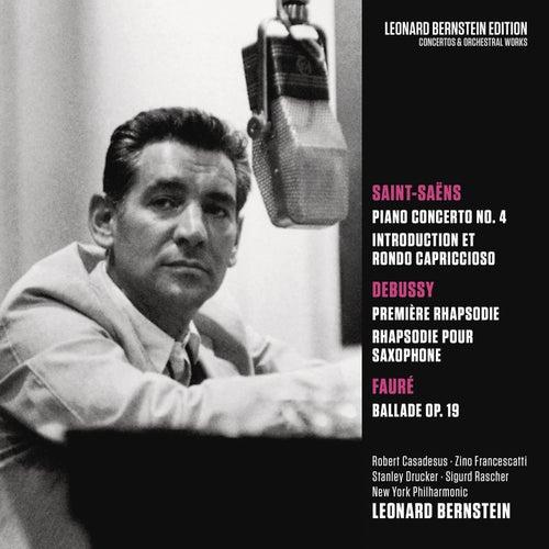 Saint-Saens: Piano Concerto No. 4 in C Minor, Op. 44 & Introduction et Rondo capriccioso, Op. 28 - Debussy: Rhapsodies - Fauré: Ballade in F-Sharp Major, Op. 19 de Leonard Bernstein / New York Philharmonic