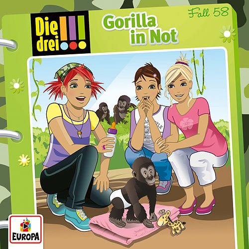 058/Gorilla in Not by Die Drei !!!