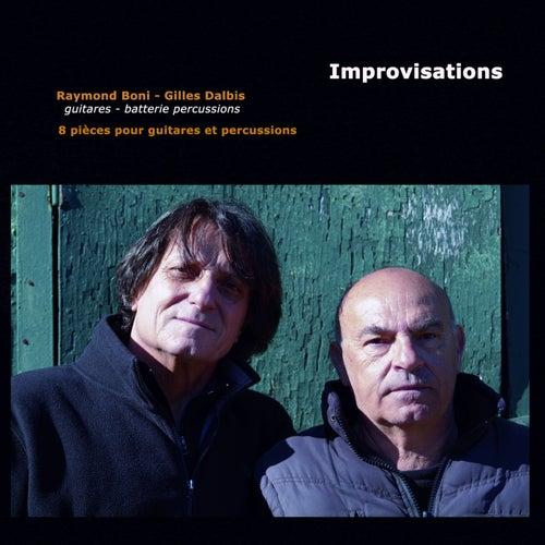 Improvisations : 8 pièces pour guitares et percussions by Raymond Boni
