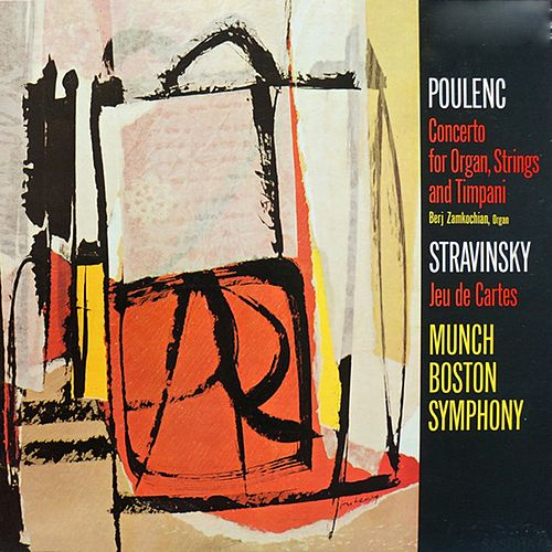 Charles Munch / Poulenc Concerto In G Minor For Organ, Strings And Timpani & Stravinsky Jeu Des Cartes de Charles Munch