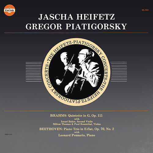 Brahms: String Quintet No. 2 in G Major, Op. 111 & Beethoven: Piano Trio No. 2 in E-Flat Major, Op. 70 (Remastered) de Gregor Piatigorsky