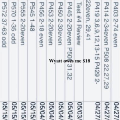 Wyatt owes me $18 by Grey Wall