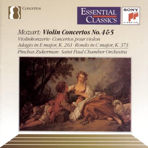 Mozart: Violin Concertos Nos. 4 & 5, Adagio, K. 261 & Rondo, K. 373 by Pinchas Zukerman
