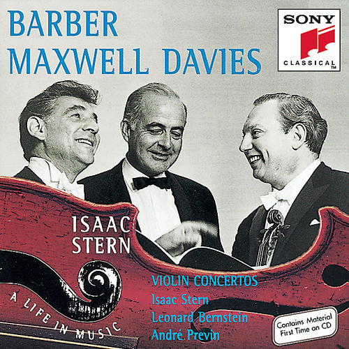 Barber/Maxwell Davies:  Violin Concertos de Isaac Stern