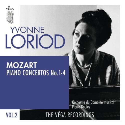 Mozart: Piano concertos No. 1-4 by Yvonne Loriod