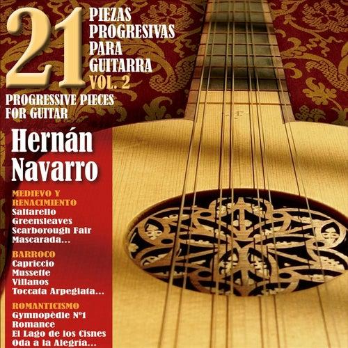 21 Piezas Progresivas para Guitarra, Vol. 2 de Hernán Navarro