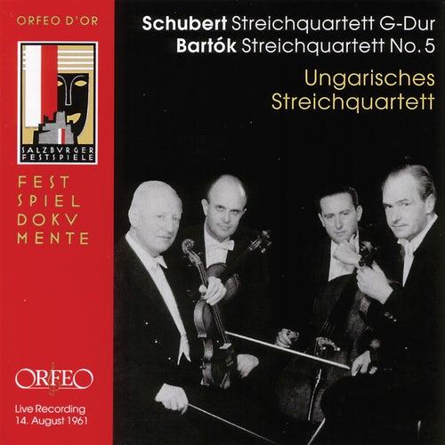 Bartók: String Quartet No. 5 - Schubert: String Quartet No. 15 in G Major (Live) de Hungarian Quartet