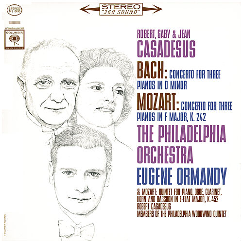 Mozart: Concerto for 3 Pianos & Quintet - Bach: Concerto for 3 Pianos (Remastered) von Eugene Ormandy