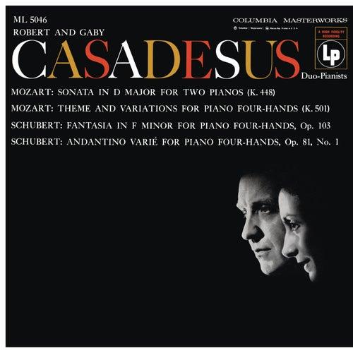 Mozart: Sonata for 2 Pianos, K. 448 & Andante with 5 Variations, K. 501 - Schubert: Fantasia, D. 940 & Andantino varié, D. 823 de Robert Casadesus