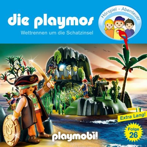 Folge 26: Wettrennen um die Schatzinsel (Das Original Playmobil Hörspiel) von Die Playmos
