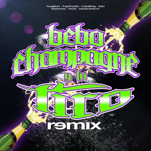 Bebo Champagne y Lo Tiro (Remix) [feat. Duki, Neo Pistea, Papi Trujillo, Cuban Bling & Pochi] by Yung Beef