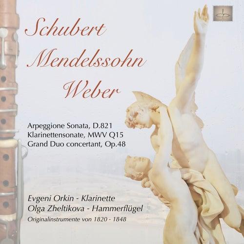 Klarinettenwerke von Franz Schubert, Felix Mendelssohn Bartholdy und Carl Maria von Weber by Evgeni Orkin