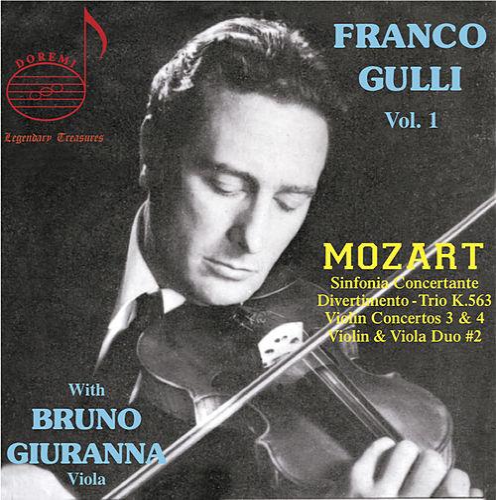 Franco Gulli, Vol 1: Mozart With Bruno Giuranna di Franco Gulli
