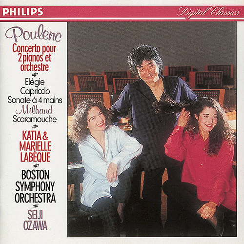 Poulenc/Milhaud: Concerto in D minor for 2 Pianos/Scaramouche etc. fra Kathia