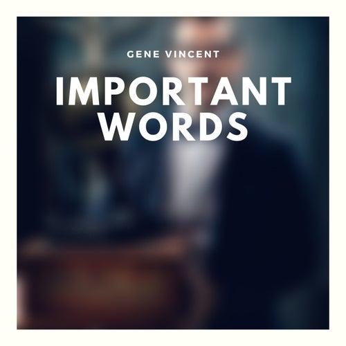 Important Words de Gene Vincent