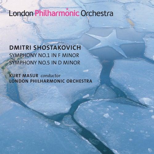 Shostakovich: Symphony Nos. 1 & 5 de Kurt Masur