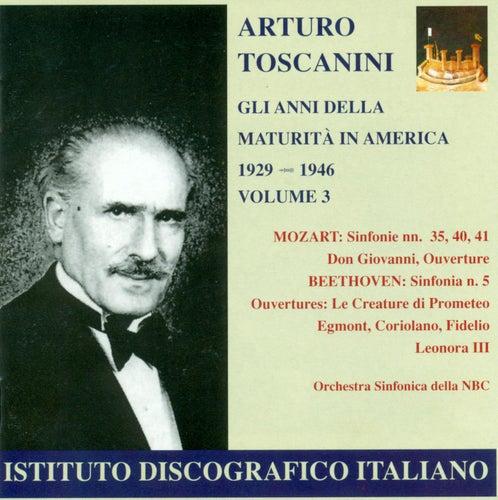 Mozart, W.A.: Symphonies Nos. 5, 35, 40, 41 / Beeethoven, L. Van: Overtures (Gli Anni Della Maturita in America, Vol. 3) (Toscanini) (1929-1946) de Arturo Toscanini