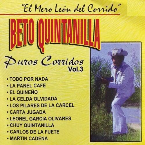 El Mero León del Corrido: Puros Corridos, Vol. 3 de Beto Quintanilla