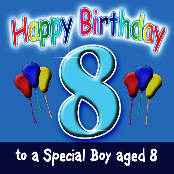 number 8 birthday boy