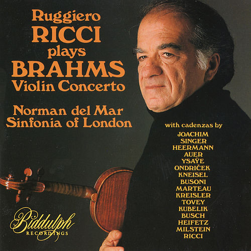 Brahms: Violin Concerto in D Major, Op. 77 (with 16 cadenzas) – Ricci, del Mar, Sinfonia of London de Ruggiero Ricci