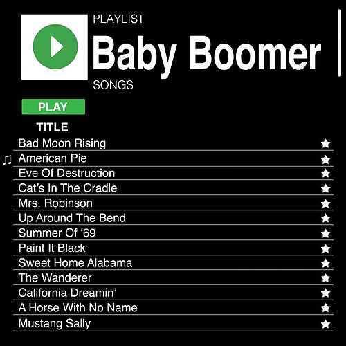 Baby Boomer Rock Songs de Various Artists