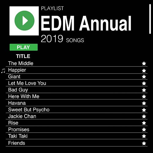 EDM Annual 2019 by D.J. Mash Up
