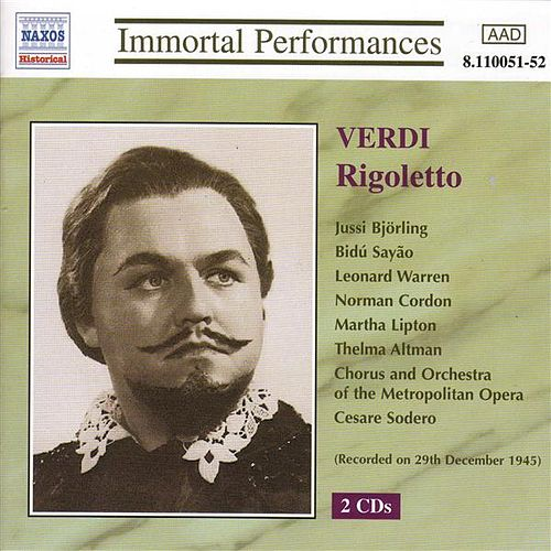 Verdi: Rigoletto (Bjorling, Sayao, Warren) (1943) von Various Artists