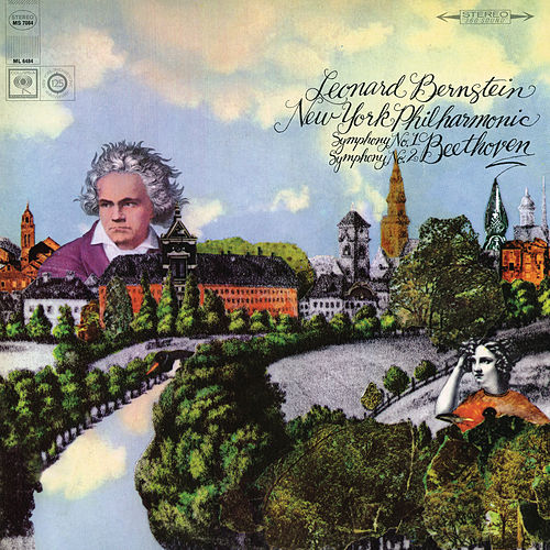 Beethoven: Symphony No. 2 in D Major, Op. 36 & Symphony No. 1 in C Major, Op. 21 (Remastered) by Leonard Bernstein / New York Philharmonic