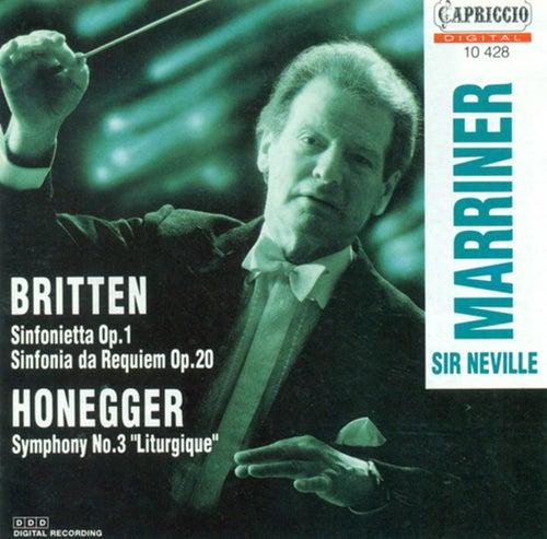 Britten, B.: Sinfonietta, Op. 1 / Sinfonietta Da Requiem / Honegger, A.: Symphony No. 3,