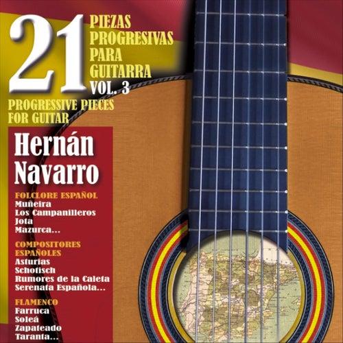 21 Piezas Progresivas para Guitarra, Vol. 3 de Hernán Navarro