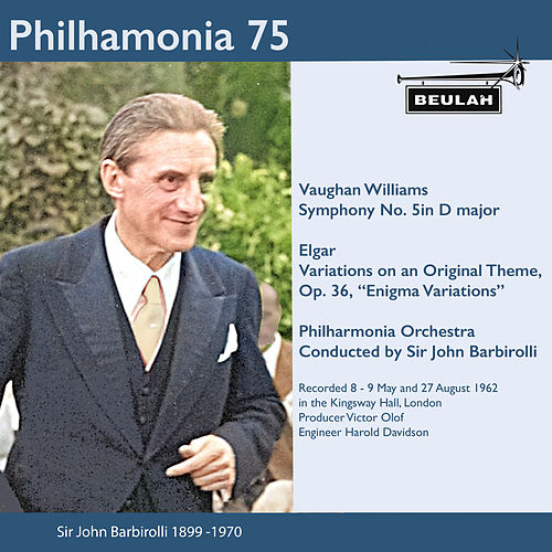 Philharmonia 75 Sir John Barbirolli de Sir John Barbirolli
