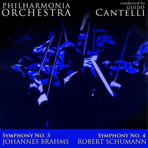 Brahms: Symphony No. 3 - Schumann: Symphony No. 4 von Philharmonia Orchestra