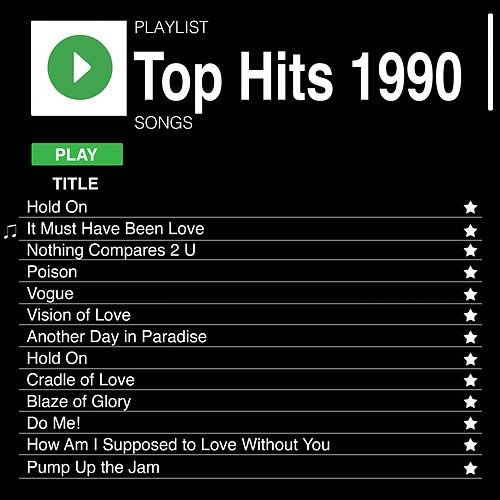 Top Hits 1990 de Various Artists