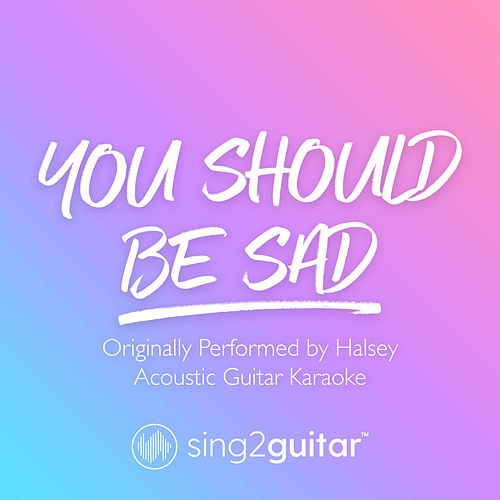 You should be sad (Originally Performed by Halsey) (Acoustic Guitar Karaoke) von Sing2Guitar