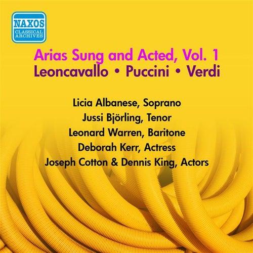 Operatic Arias - Verdi / Puccini / Leoncavallo (Bjorling, Albanese, Warren) (Arias Sung and Acted, Vol. 1) (1954) von Various Artists