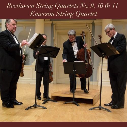 Beethoven: String Quartets No. 9, 10 & 11 by Emerson String Quartet