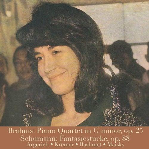 Brahms: Piano Quartet in G minor, op. 25/Schumann: Fantasiestücke, op. 88 von Martha Argerich