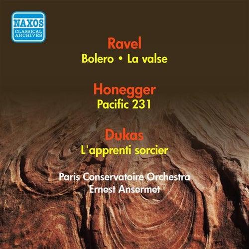 Ravel, M.: Bolero / Honegger, A.: Pacific 231 / Dukas, P.: The Sorcerer's Apprentice / Ravel, M.: La Valse (Ansermet) (1954) von Ernest Ansermet