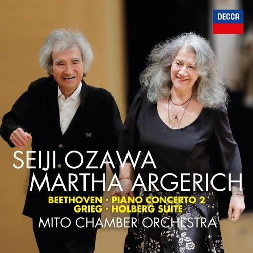Beethoven: Piano Concerto No. 2; Grieg: Holberg Suite by Seiji Ozawa