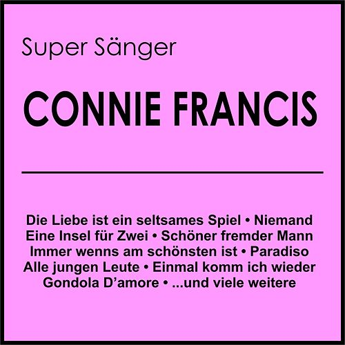 Super Sänger de Connie Francis