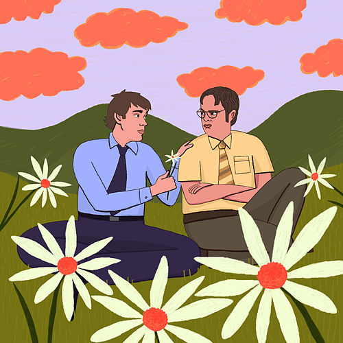 Jim and Dwight von Tom Rosenthal
