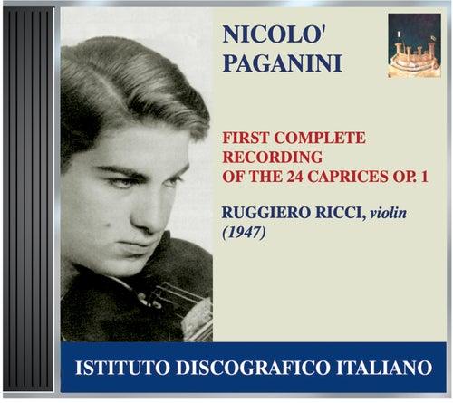 Ricci, Ruggiero: First Complete Recording of Paganini's 24 Caprices, Op. 1 (1947) de Ruggiero Ricci