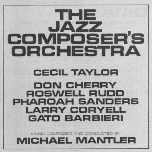The Jazz Composer's Orchestra by Various Artists