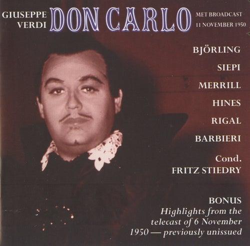 Verdi: Don Carlo von Jussi Bjorling