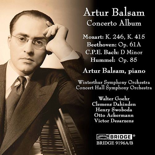 C.P.E. Bach, Beethoven, Mozart & Others: Piano Concertos by Artur Balsam